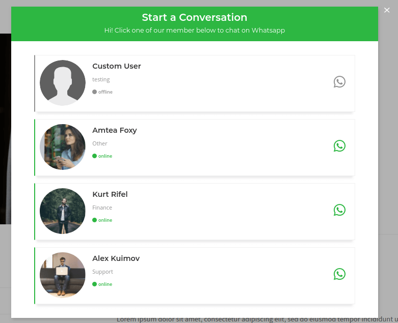 whatsapp contact button plugin