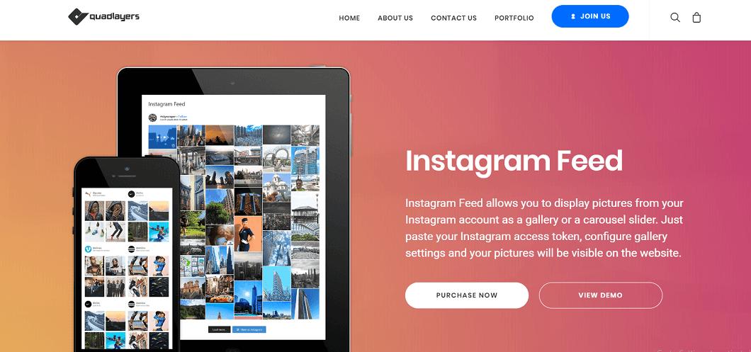 QuadLayers Instagram Feed Plugin, Instagram Feed Plugins