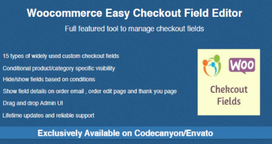 Best WooCommerce Checkout Plugins - Easy Checkout Field Editor