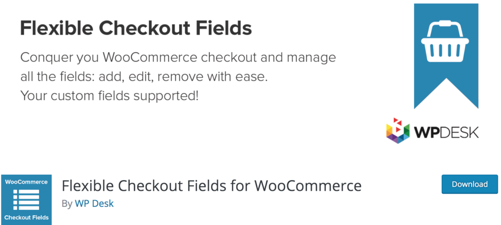 Best WooCommerce Checkout Plugins - Flexible Checkout Fields
