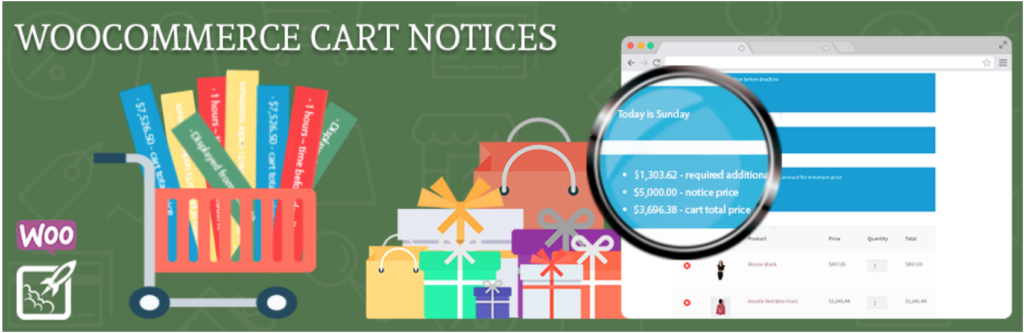 WooCommerce checkout plugins - Cart Notices