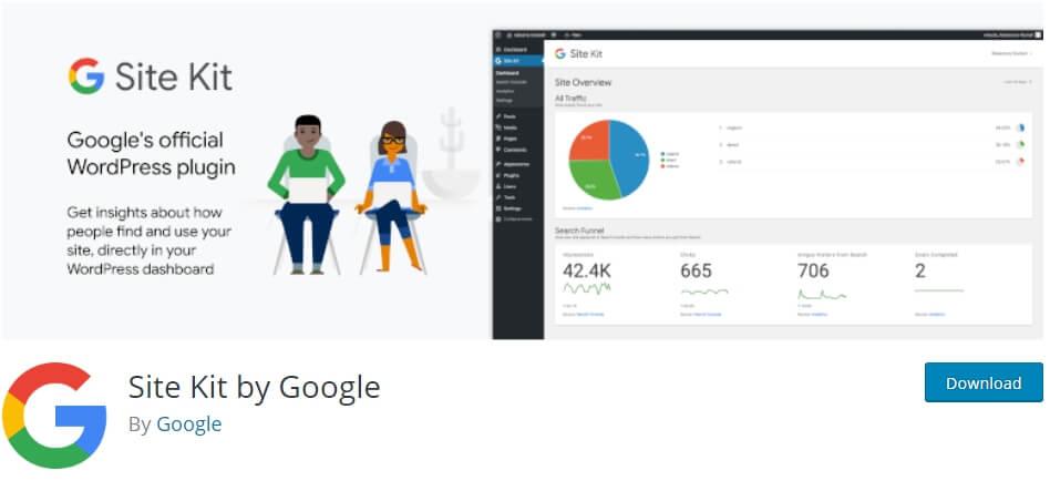 Google site kit WordPress - Site kit preview