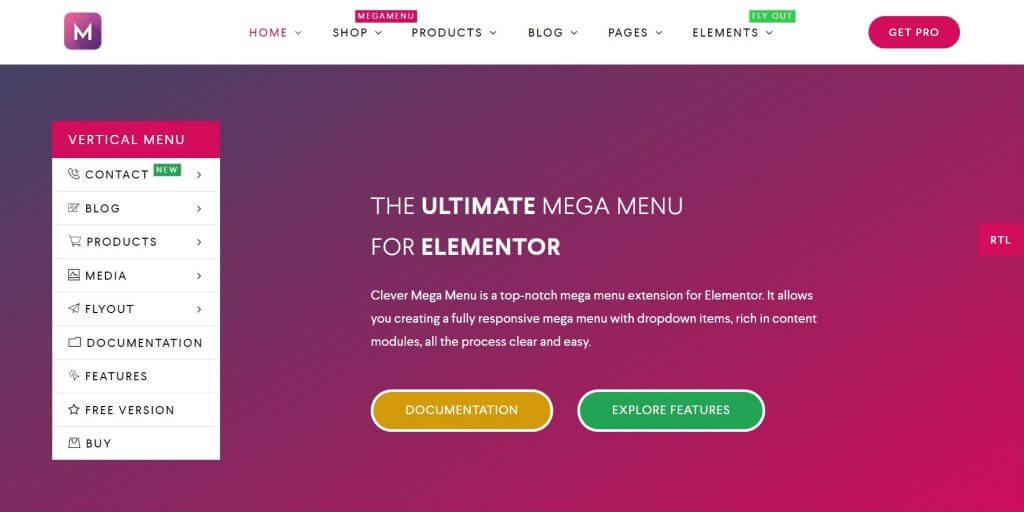 elementor mega menu - Clever mega menu