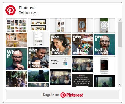 Pinterest feed