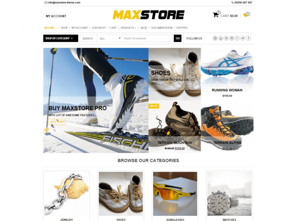MaxStore woocommerce free themes