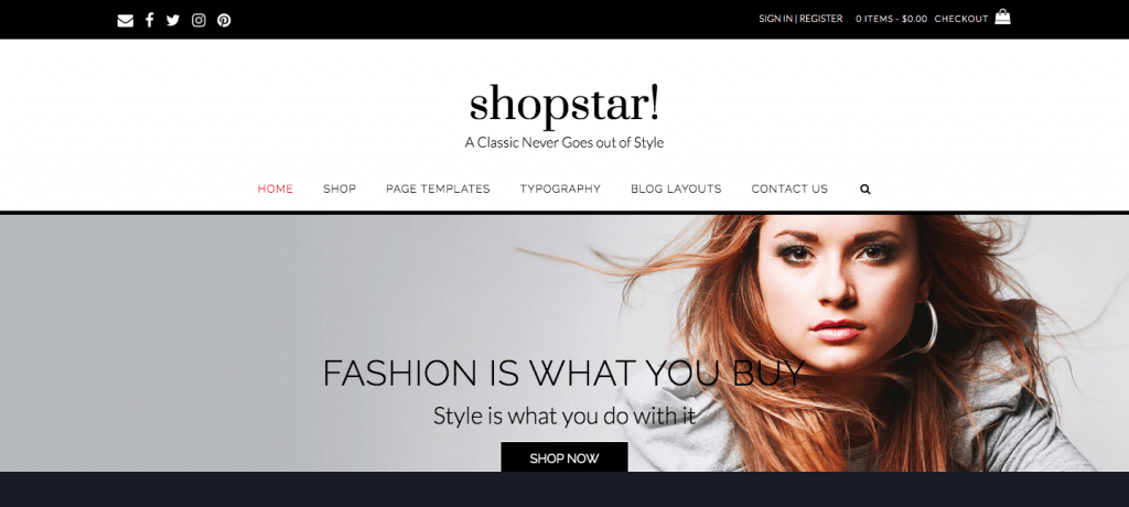 shopstar woocommerce free themes
