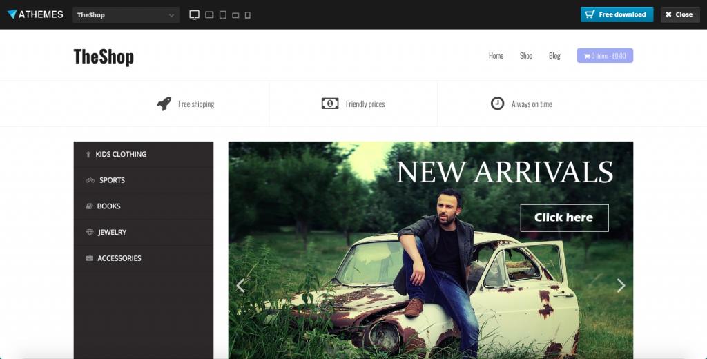 TheShop WooCommerce free themes