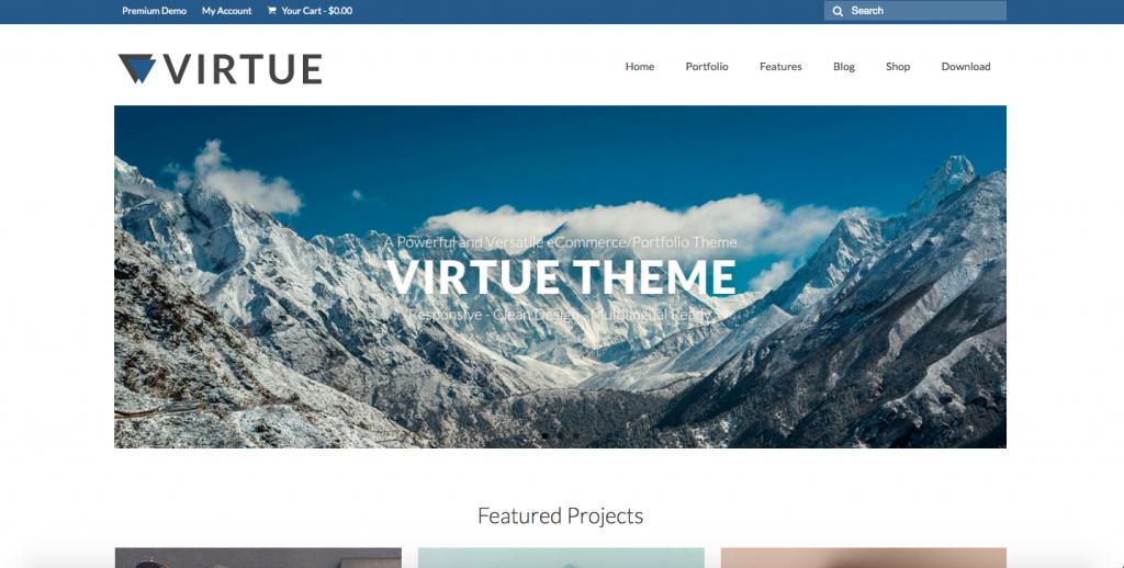 virtue woocommerce free themes