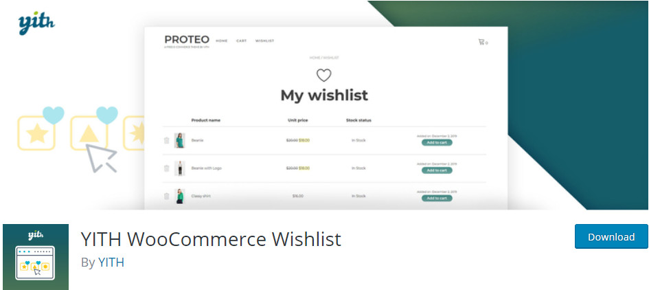WooCommerce plugins - WooCommerce Wishlist