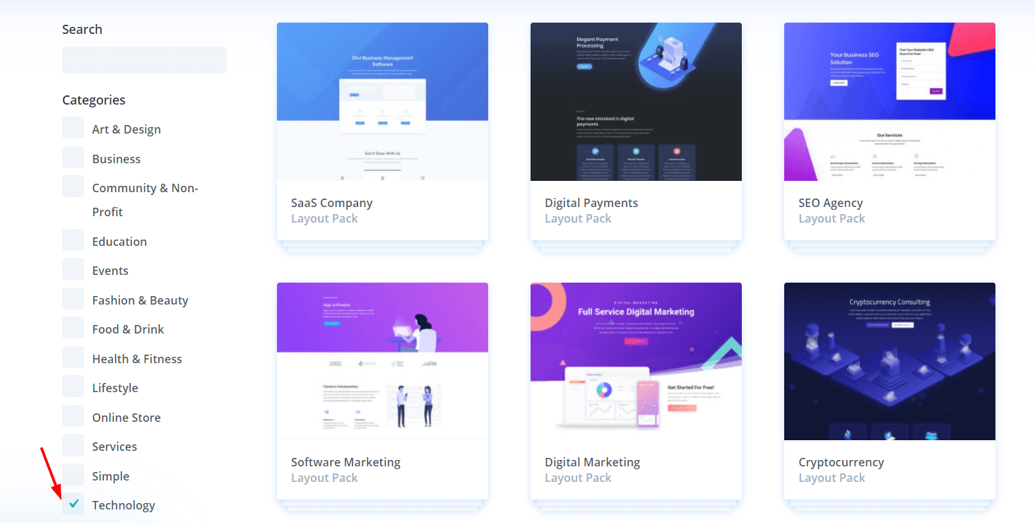 technology templates