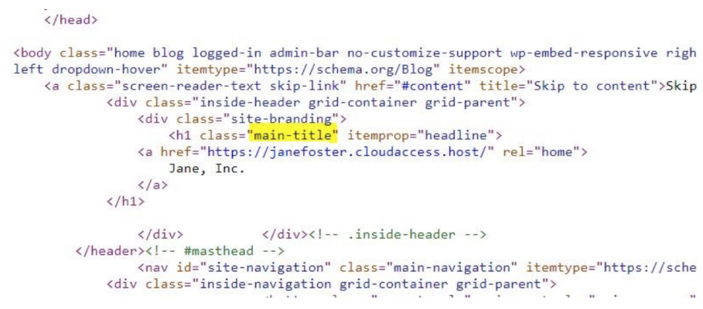 Edit and customize the Header In WordPress