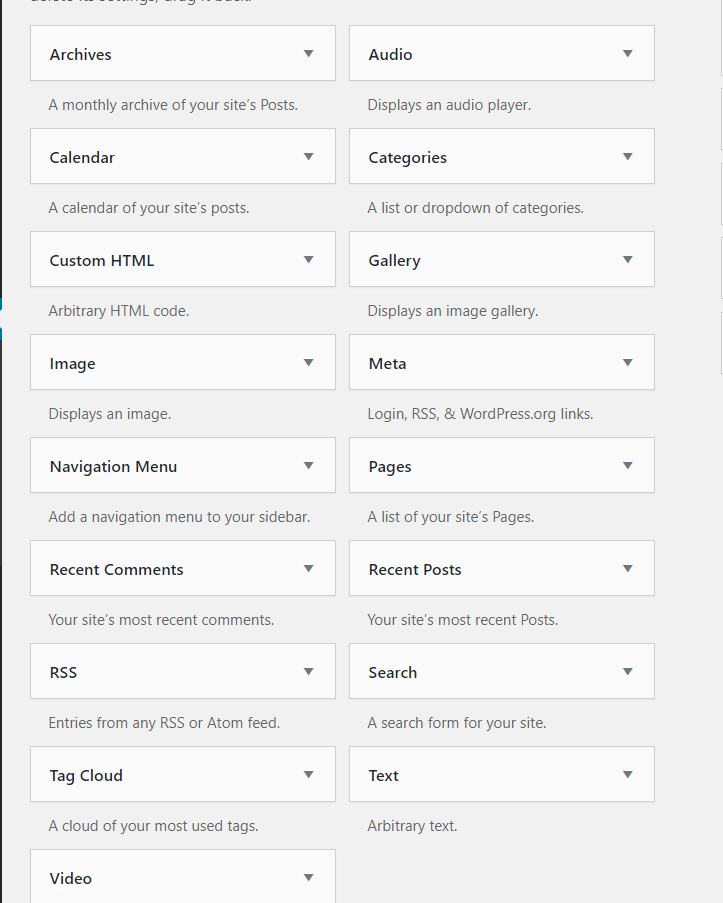Edit WordPress footer - Add widgets