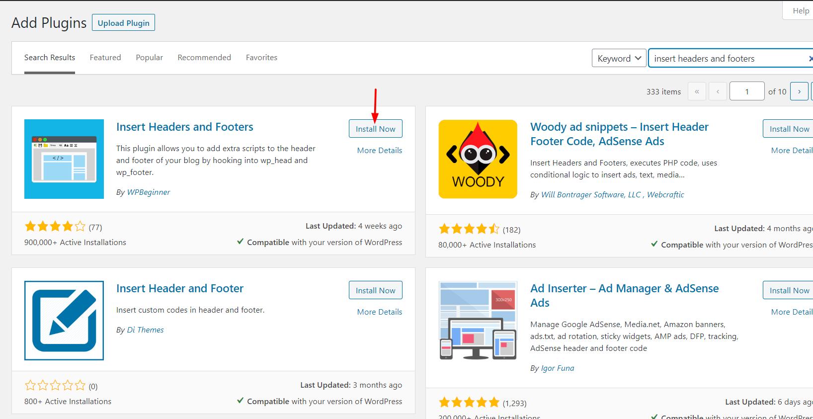 Edit WordPress footer - Headers and Footers
