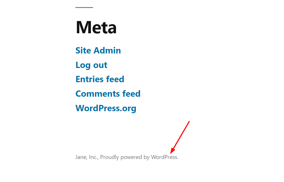 Edit WordPress footer - Remove powered by WP