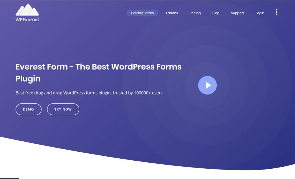 best contact forms for WordPress - everest forms