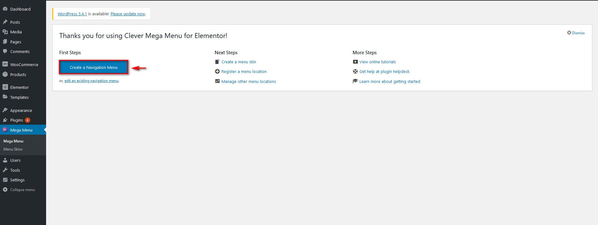 Clever mega menu for elementor - create a navigation menu