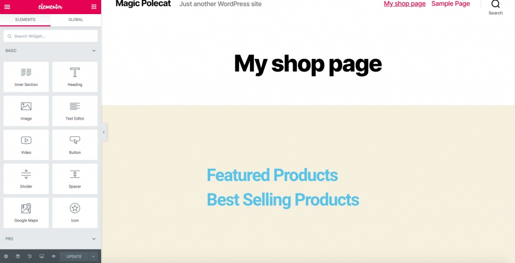 Customize WooCommerce Shop Page featured and best-selling products