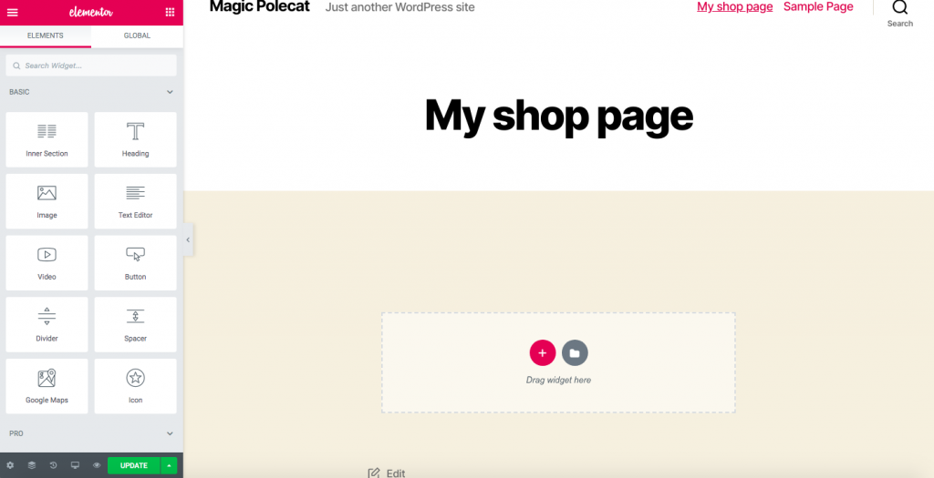 Customize WooCommerce Shop Page with a page builder