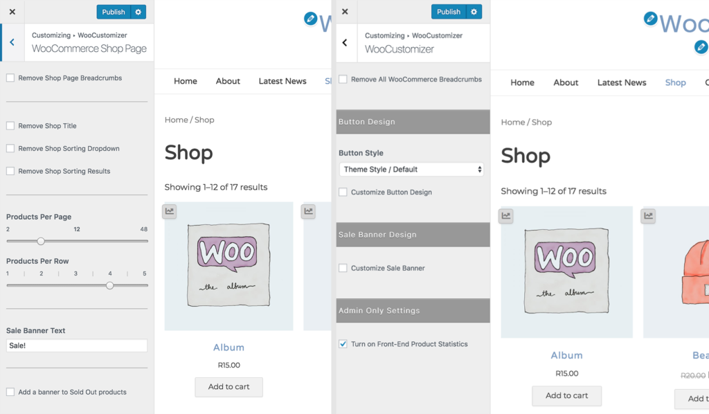 Customize WooCommerce Shop Page - WooCustomizer
