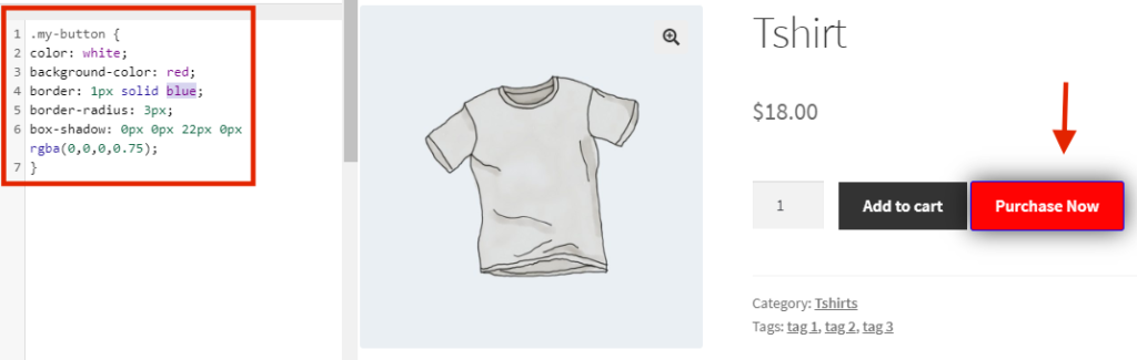 add quick buy button in woocommerce - Button style