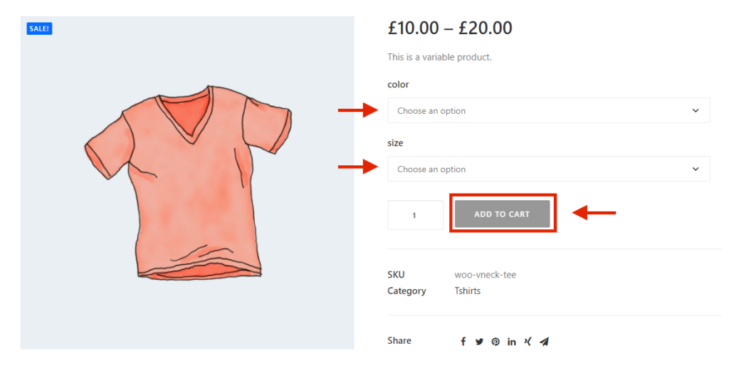 WooCommerce default product attributes - Add to cart button disabled