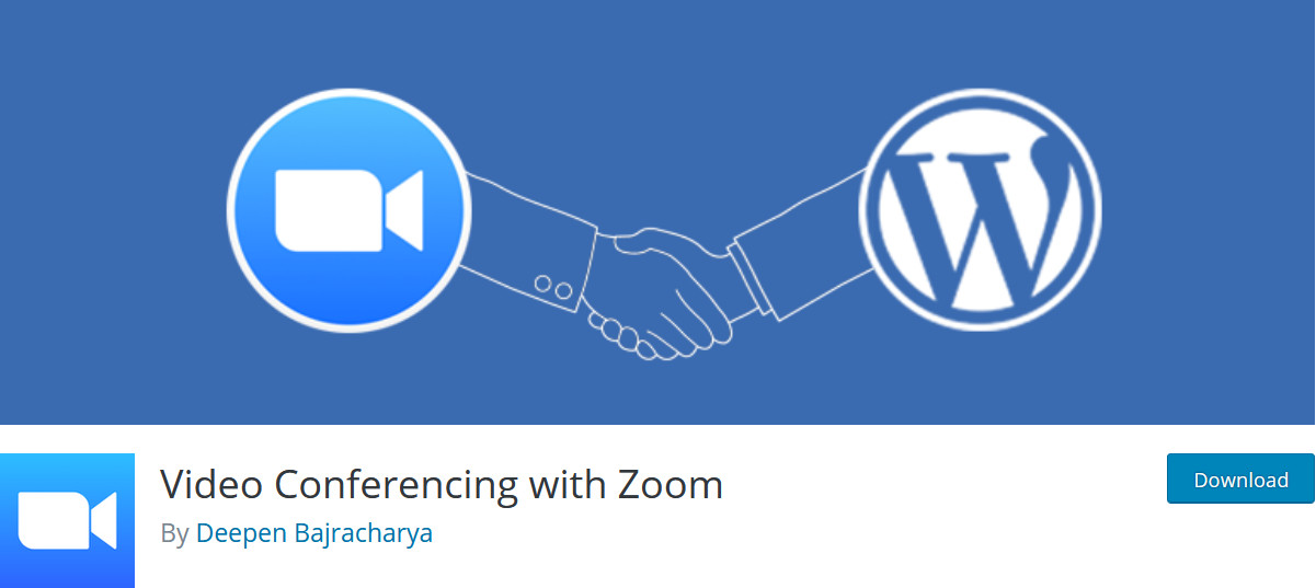 integrate wordpress with zoom - video conference plugin