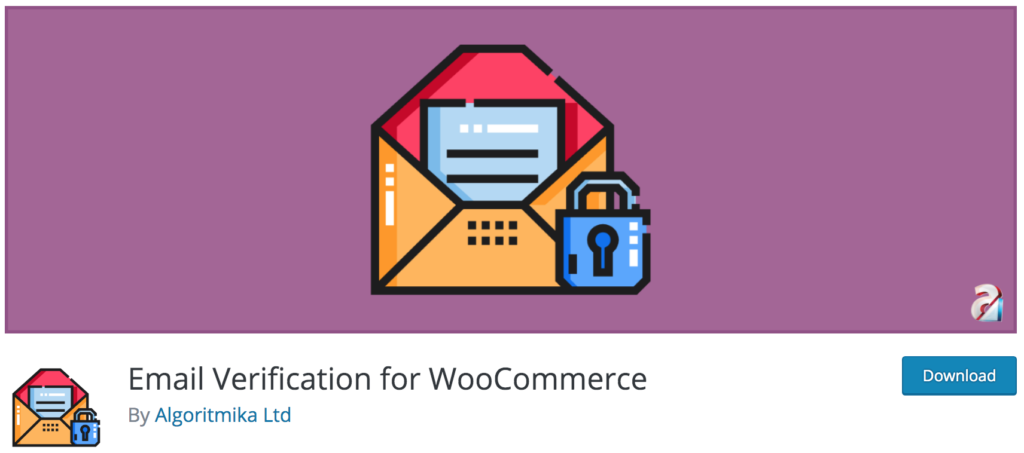 Email Verification for WooCommerce plugin