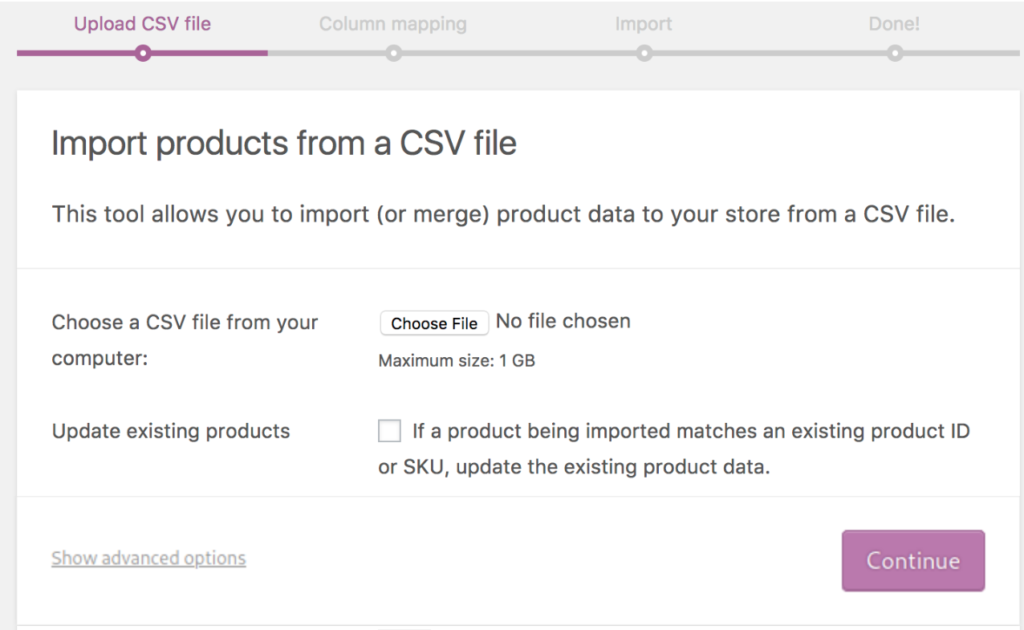 How to Import products in WooCommerce