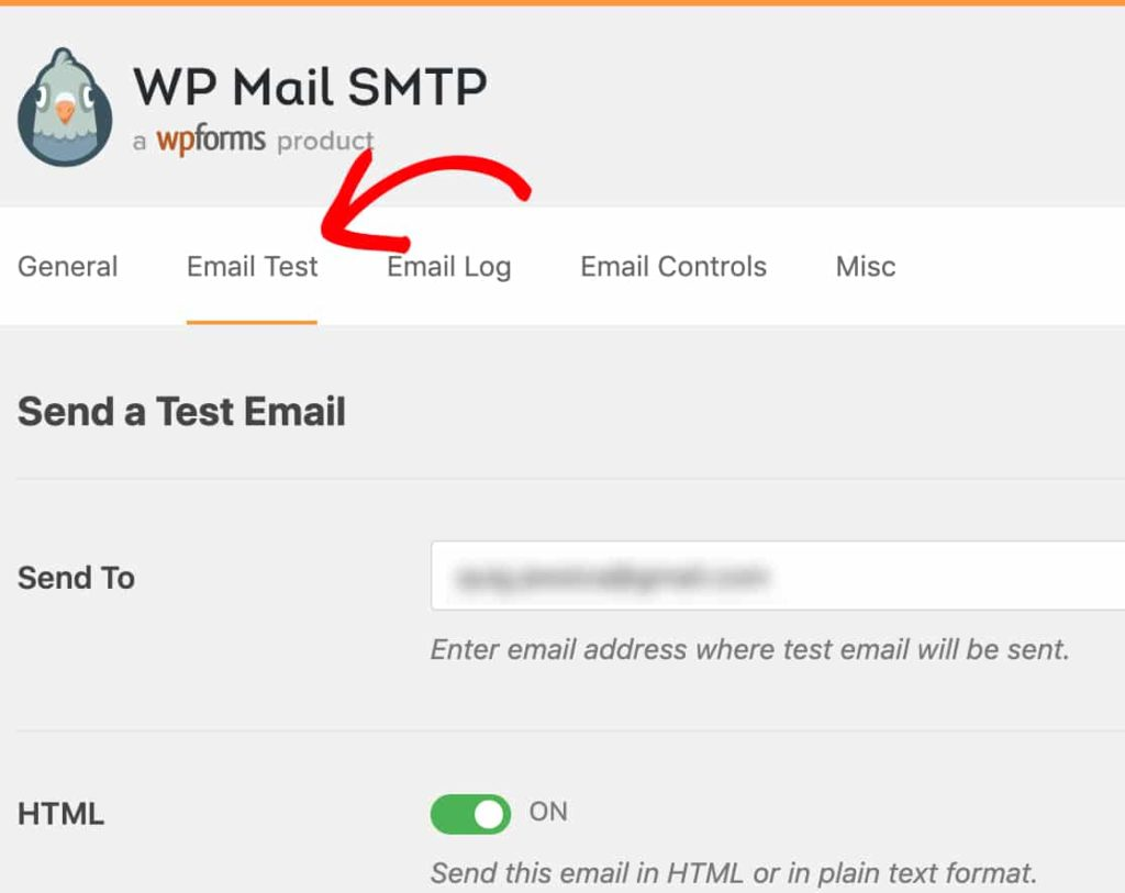 divi contact form is not working - WP Mail SMTP email test