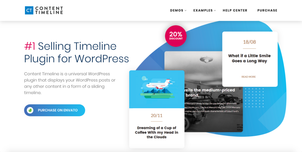Content Timeline, one of the top WordPress timeline plugins