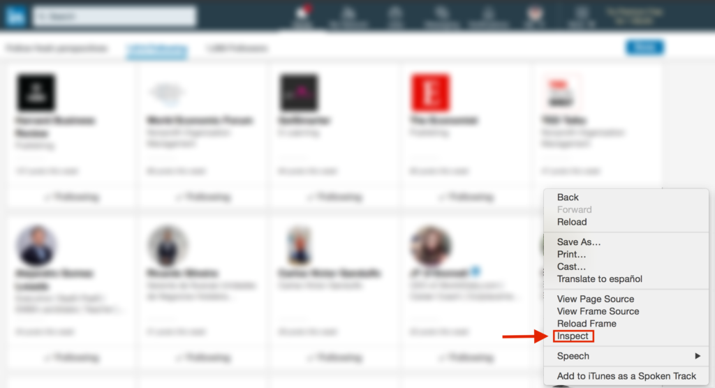 Unfollow connections in bulk on linkedin php soft version