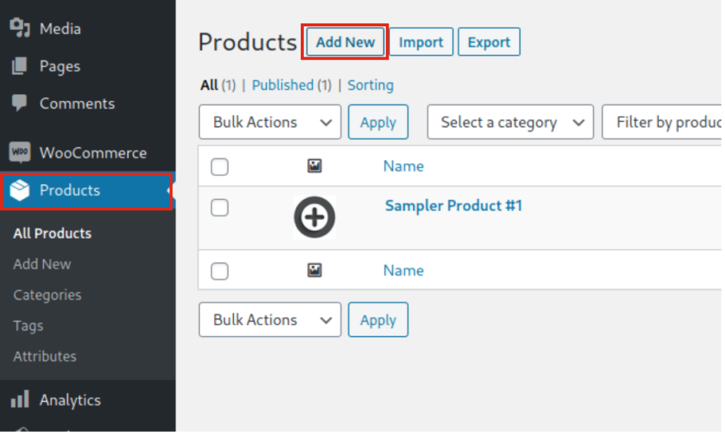How to add products in WooCommerce from the WP dashboard