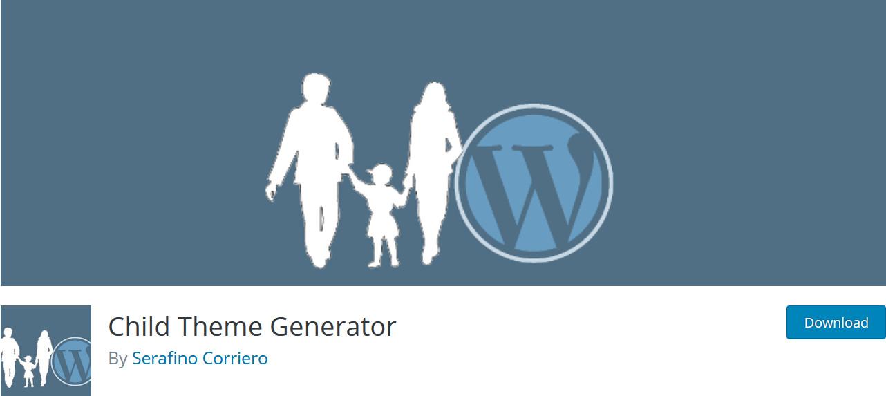 create a child theme in WordPress - plugin title