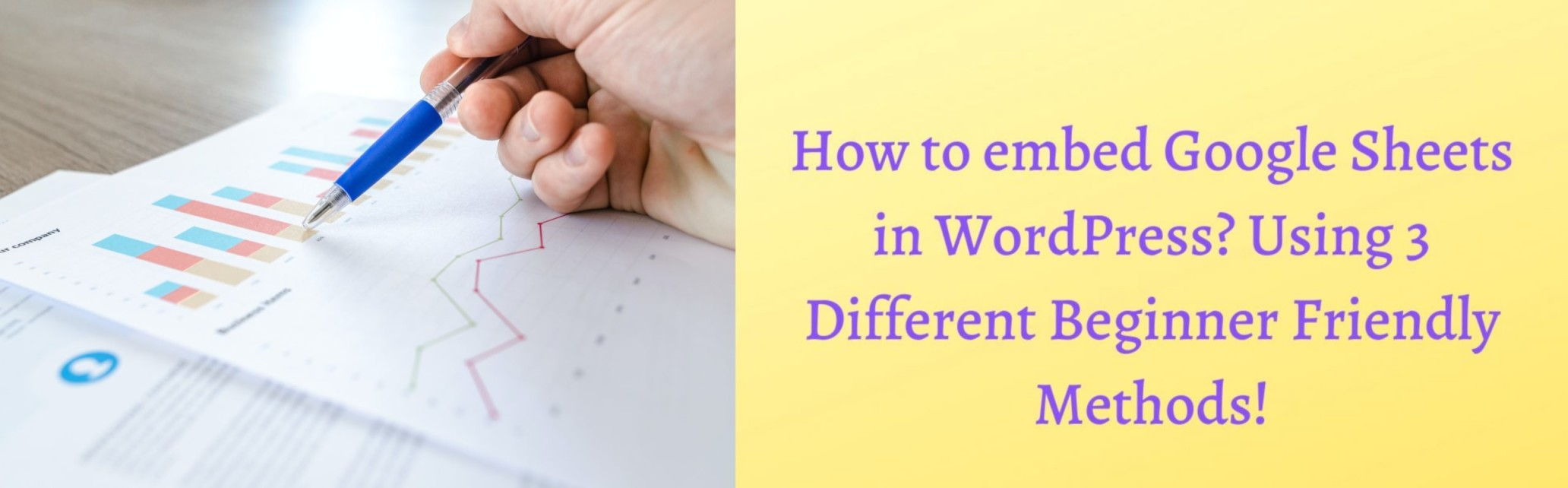 embed google sheets in wordpress - Featured image