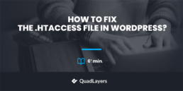 Fix The .htaccess File In WordPress