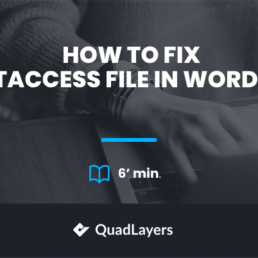 Fix The .htaccess File In WordPress