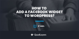 add facebook widget to wordpress - featured image