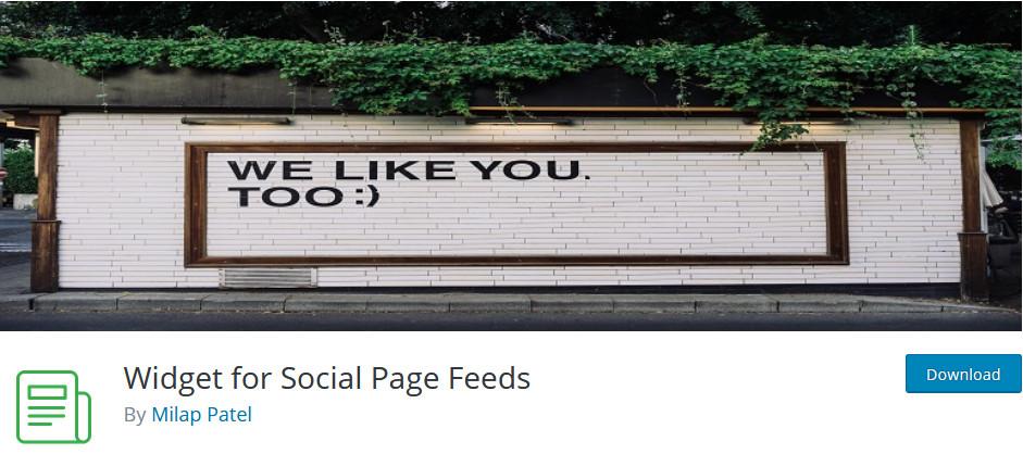 add facebook widget to wordpress - plugin image