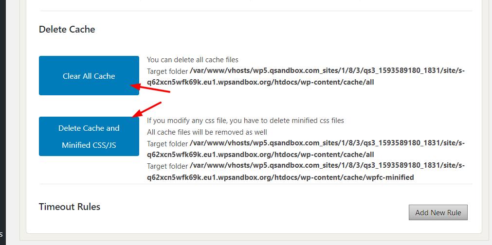 Fix Divi Builder Timeout Error - Clear the cache