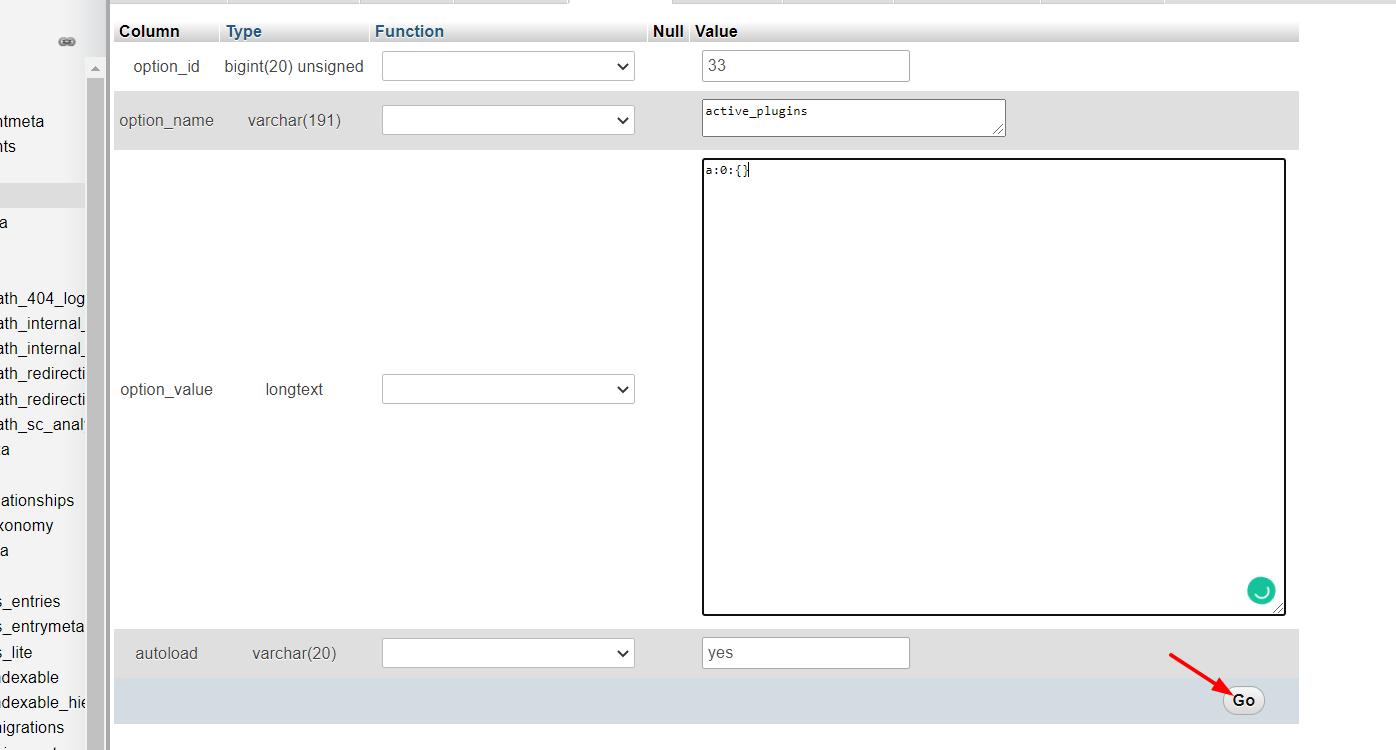 Deactivate WordPress Plugins In Bulk from PHPMyAdmin