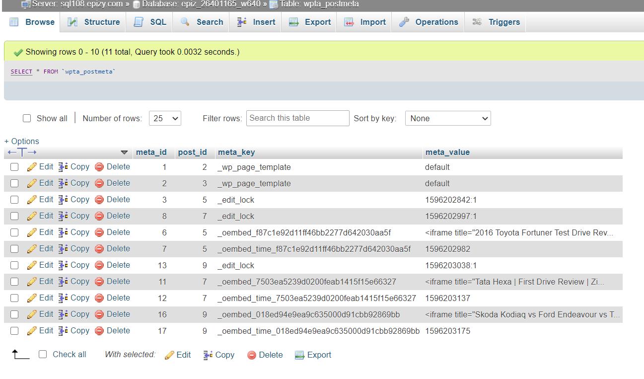 Clear oEmbed Cache in WordPress - WP postmeta options