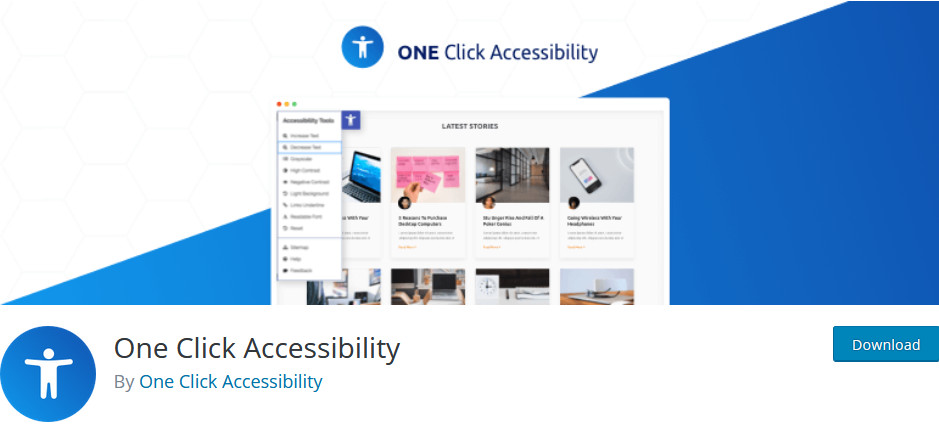 best accessibility pluging for wordpress - one click accessibility