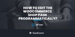 Edit WooCommerce shop page programmatically