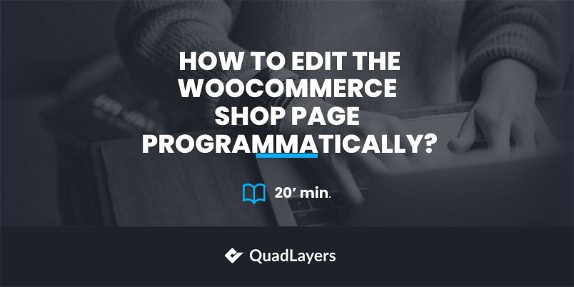 Edit WooCommerce shop page programmatically
