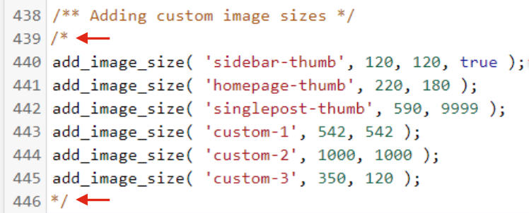 Remove Thumbnails in WordPress - Manually