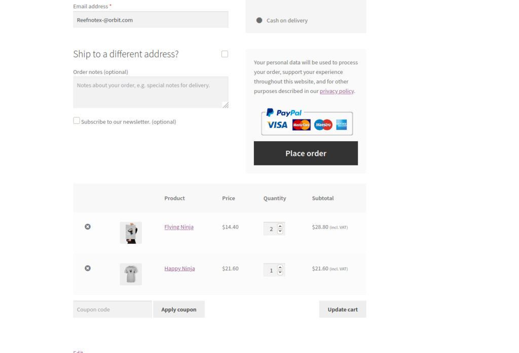 Add shortcode support to the WC checkout page