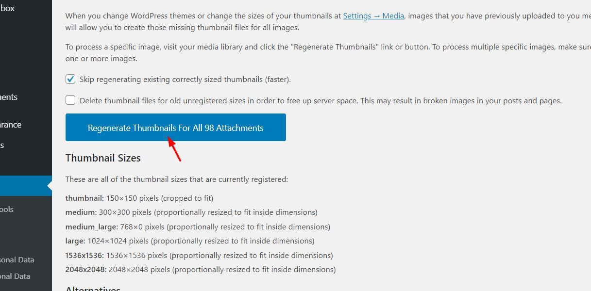 How To Remove Thumbnails in WordPress - Using Regenerate Thumbnails plugin