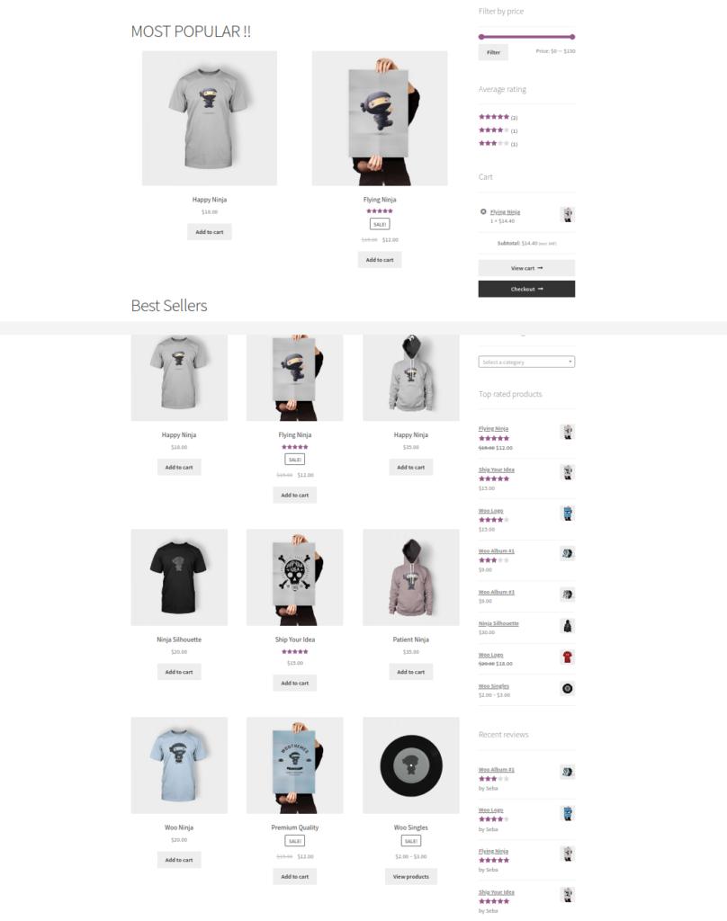 custom shop page