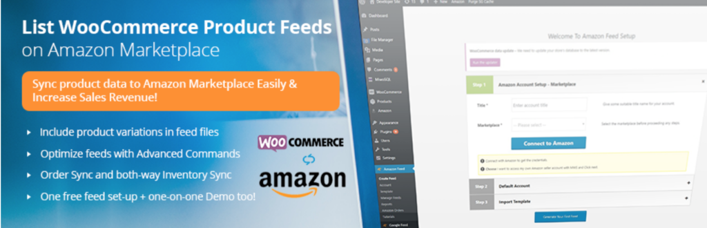 Integrate WooCommerce with Amazon - WC Products to Amazon Marketplaces