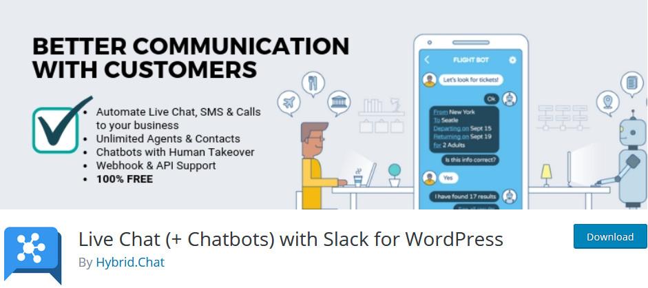 best slack plugins - live chat hybrid chat